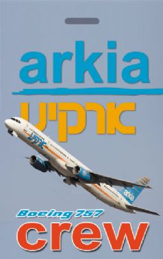Arkia Airlines 757 Crew Tag